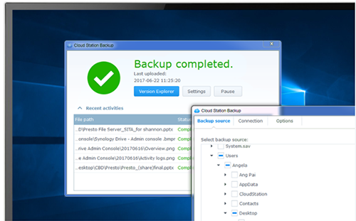 Cloud Station Backup for PC protection